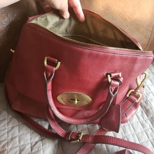 Mulberry leather two way bag
